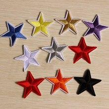 10 pz/borsa stella ricamo cucire ferro sulla toppa distintivo vestiti Applique borsa tessuto 4.2cm panno adesivo Applique accessori di abbigliamento