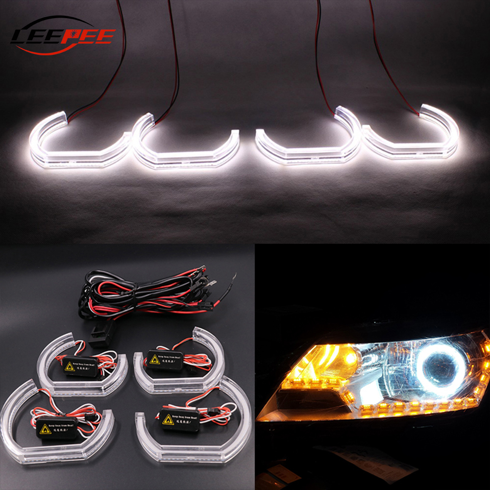 LEEPEE For BMW E90 E92 E93 F30 F35 E60 E53 Auto Accessories LED Angel Eyes DRL Car Daytime Running Light Marker Lights image