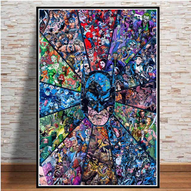 Hero USA Comic Anime New Art Poster 40 12x18 24x36 T-3875 Hot Batman