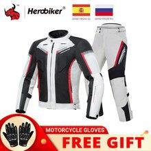 HEROBIKER veste de moto imperméable à leau hiver résistant au froid veste de Motocross moto coupe vent vêtements déquitation équipement de protection