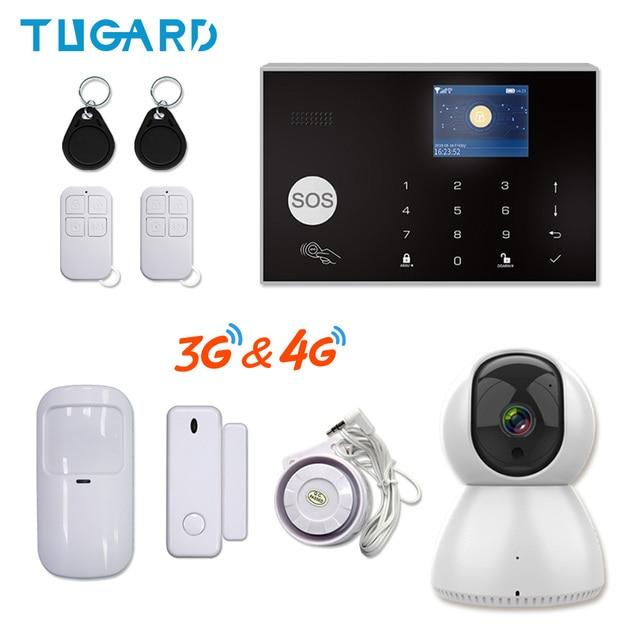Tuya 433MHz Wifi 3G 4G Home Burglar Security Alarm System,Apps Control Wireless Alarm Host Kit With Ptz IP Camera Baby Monitor
