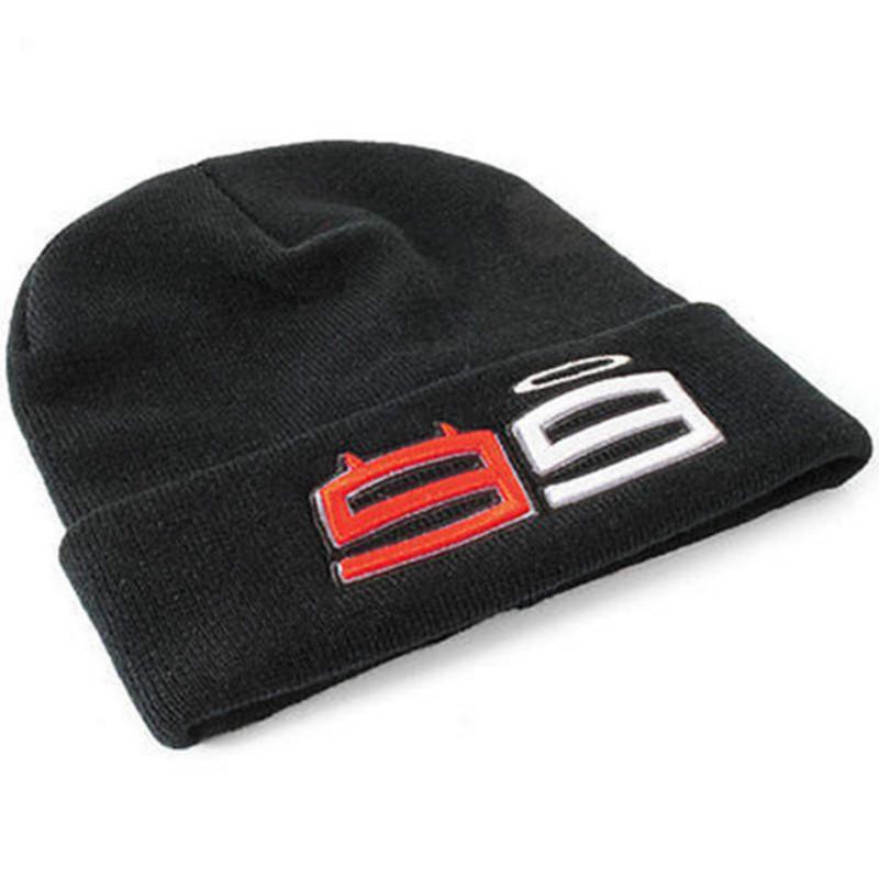 Moto Gp 99 Jorge Lorenzo Hats For Men Racing Cap Cotton Beanie Hat Warm Knitted Winter Hat Car Black Hats