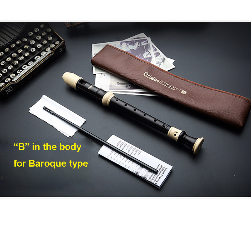 Купить с кэшбэком New Arriving Recorder ABS C Keys 8 holes German type clarinet Baroque clarionet with PU bag Oriolus mouth organ free shipping