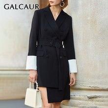 Платье galcaur женское асимметричное с отложным воротником модная