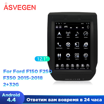 """12.1"""" Android 4.4 Car Multimedia Player For Ford F150 F250 F350 Car GPS Navigation Car Radio Stereo Ram 2G Rom 32G 2015-2018"""