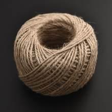 100 metre çuval bezi halat doğal jüt sicim çuval dize kenevir halat düğün hediyesi ambalaj kabloları ev dokuma dekoratif DIY el sanatları
