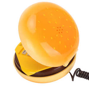 Image 4 - WX 3019 mini telephone Novelty Emulational Hamburger Telephone with Flash Re dial Wire Landline Phone Home Decoration