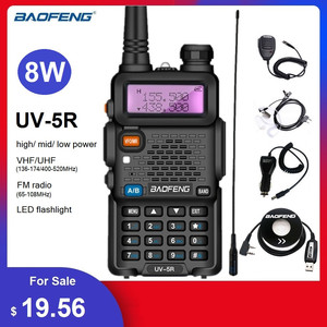 Walkie Talkie 10KM Baofeng UV-5R 8W Portable CB Radio Transceiver VHF UHF Ham Hunting Radio Stations UV 5R Transmitter UV5R