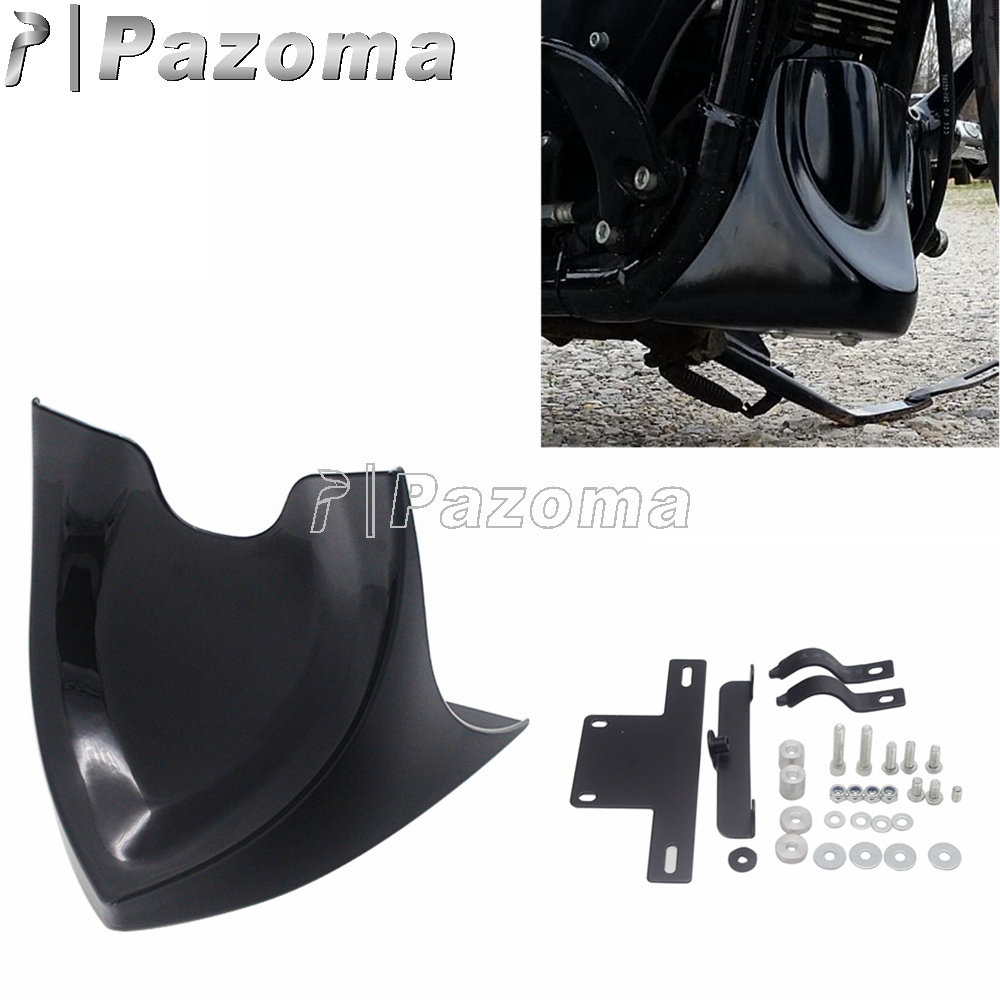 Front Chin Spoiler Air Dam Fairing For Harley Softail Fatboy Dyna 2004-2017