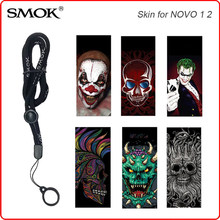 3D Printing Skin Sticker Spiderman Lanyard Rope for SMOK Nord NOVO Vape Electronic Cigarette Accessories Protective Sleeve(China)
