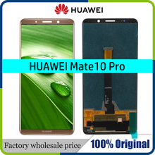 "100% Original 6.0 ""จอ LCD กรอบสำหรับ Huawei mate 10 pro mate10 pro จอแสดงผล LCD Touch Screen Digitizer Assembly เปลี่ยน"