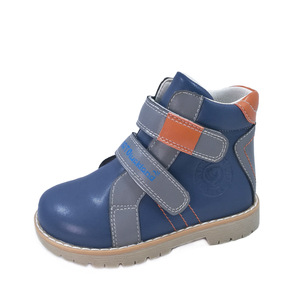 Image 3 - Ortoluckland Kids Leather Casual Shoes Original Orthopedic Shoes Girls Autumn Spring Brown Navy Blue Purple Ankle Boots