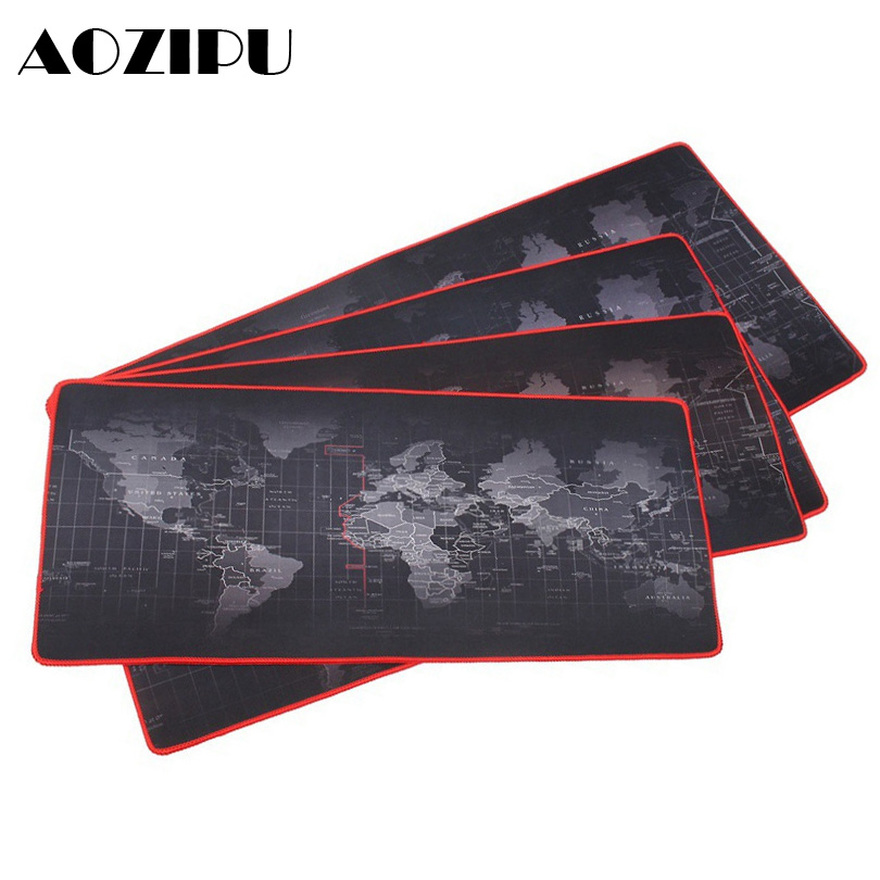 Customized Large Gaming Mouse Pad Gamer World Map Mousepad Anti-slip Natural Rubber Desk Pad Mouse Mat Gaming For CSGO Dota  LOL