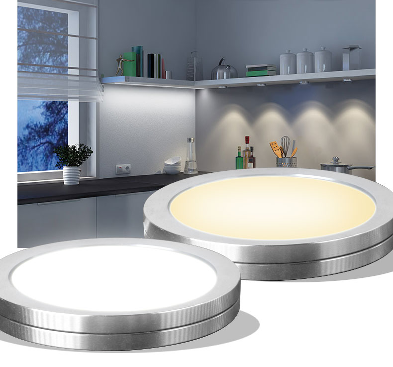 LED kastverlichting 2W 12VDC LED zaklamp ultradunne ronde LED LED Home Kitchen light