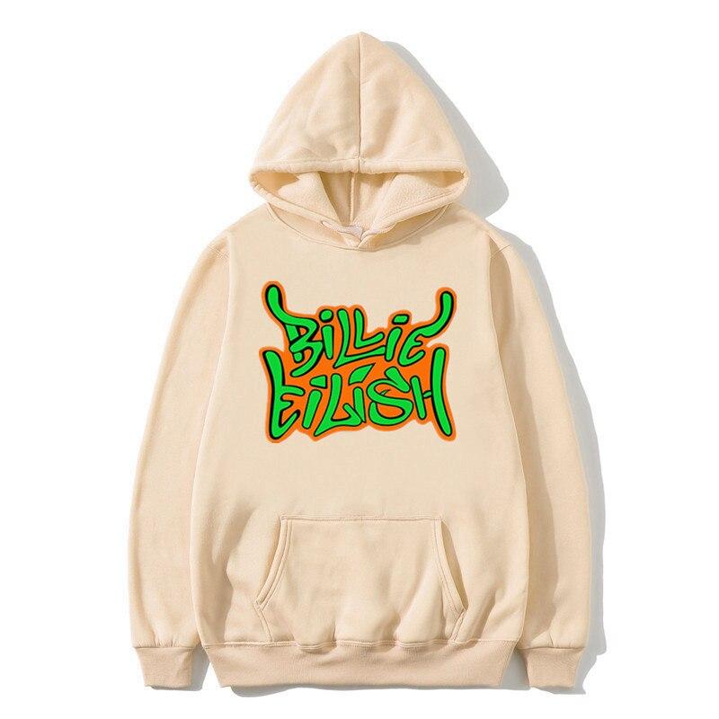 Streetwear Billie Eilish Hoodie Off White Fashion Hoodies Sweatshirt  Casual Men Women Hooded Pullover Long Sleeve Sport Hoodie