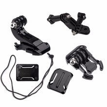Promotion--Action Camera Accessories Set For GoPro Hero 5 3 4 Xiaomi Yi 4K SJCAM SJ4000 Chest Strap Base Mount Go Pro Helmet K