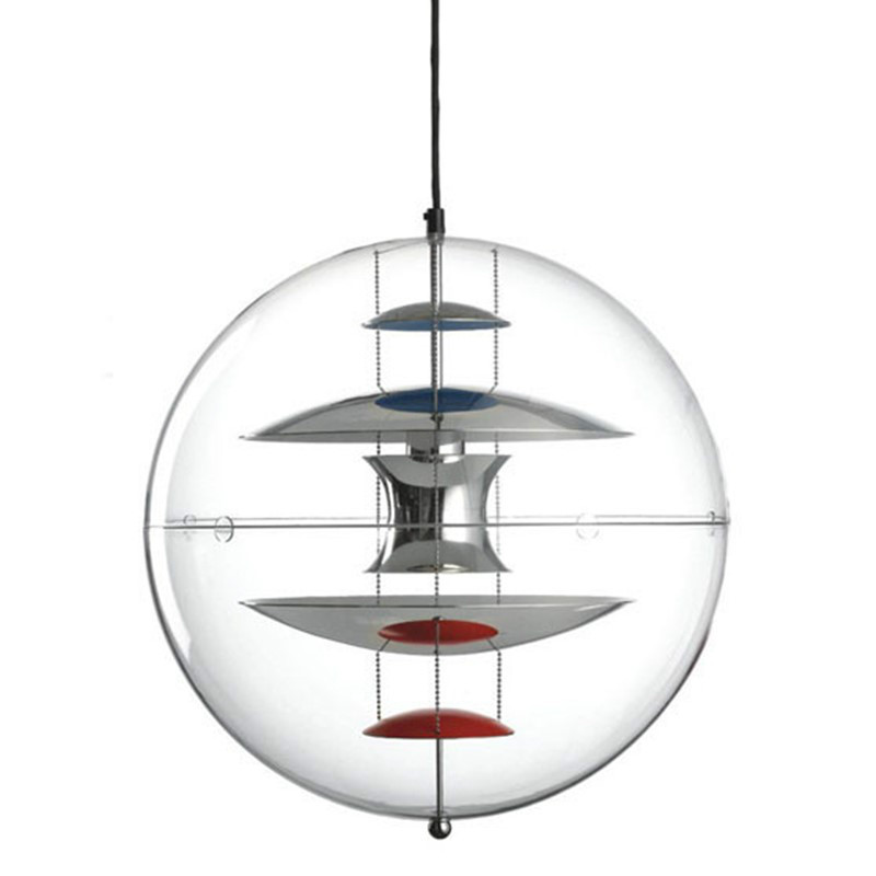 Verpan Globe Glass Led Pendant Lights Living Room Dining Room Bedroom Hanging Lamp Acrylic Vintage Home Art Decor Light Fixtures