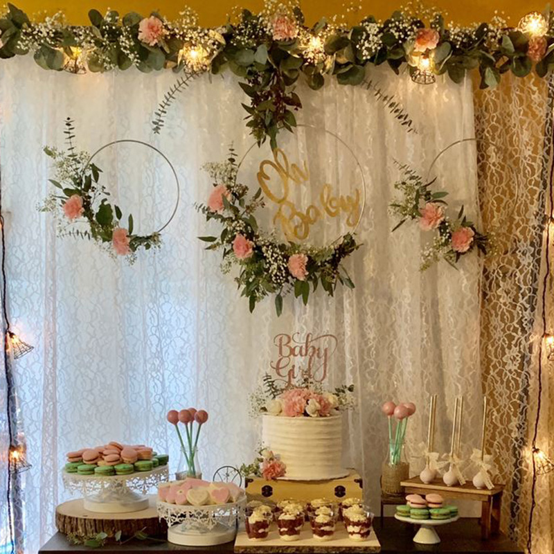 10-40cm Metal Ring Hanging Garland Gold Metal Dream Catcher Ring DIY Flower Wreath Hoop Baby Shower Wedding Decorations