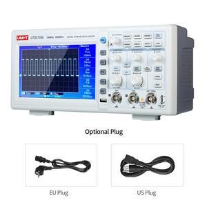 Image 1 - Oscilloscope numérique UTD2102e, UNI T MHz, analyseur logique, bande passante 2 canaux, stockage 100 Ms/S, Oscilloscope LCD 7 pouces TFT, 500