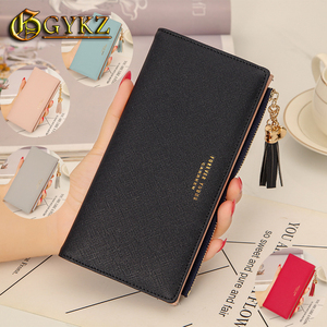 Brand Wallet Women Tassel Designer Leather Ladies Long Purse Clutch Fashion Coin Card Holder High Quality Cheap free shipping