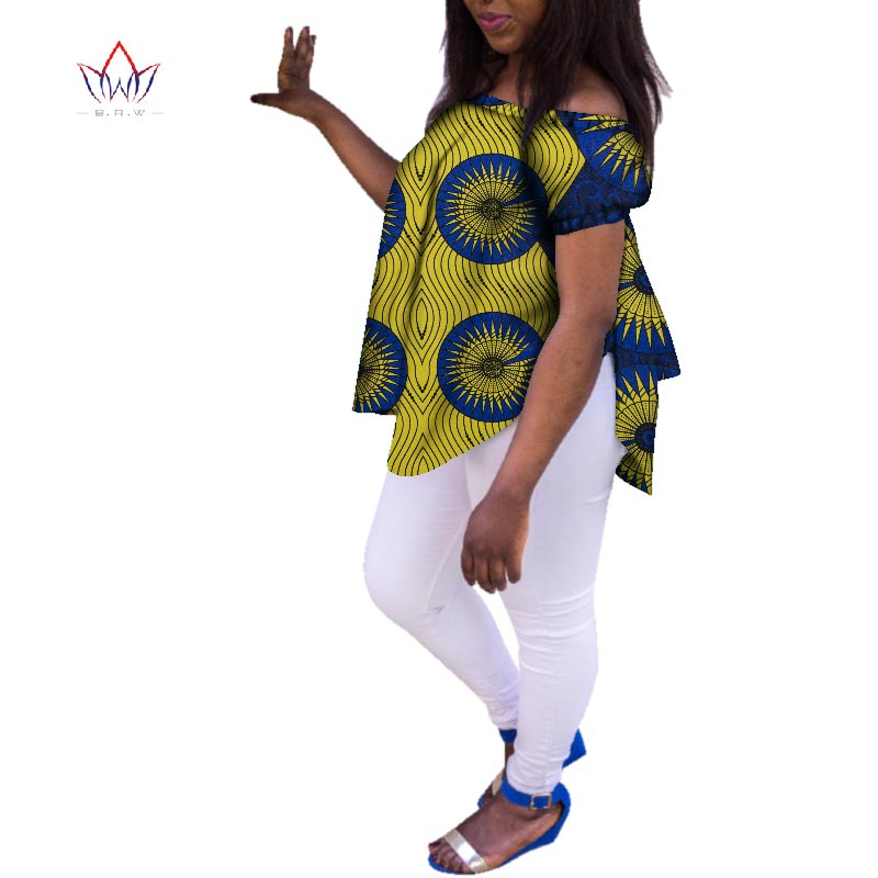 2020 Autumn African Shirts For Women Dashikis 6xl Africa Clothing Women Traditional African Clothing Cotton Top Plus Size WY3373