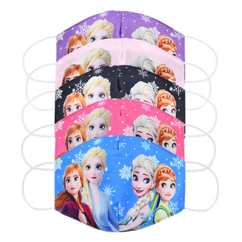 2020 New Dust-proof Breathable Anti-fog Mask Ice Girl Snow Cartoon Mask For Children Breathable Children PM2.5 Dust Mask