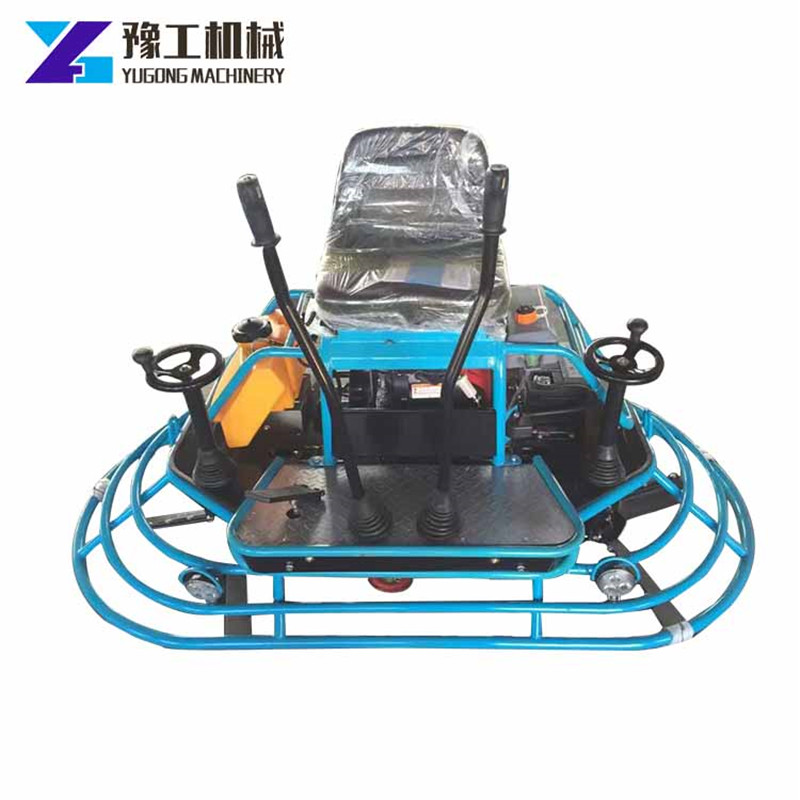 Handle Power Trowel Gasoline Drive Walk Behind Concrete Finisher Polishing Warehouse Factory Parking Square Airport Mud Compact