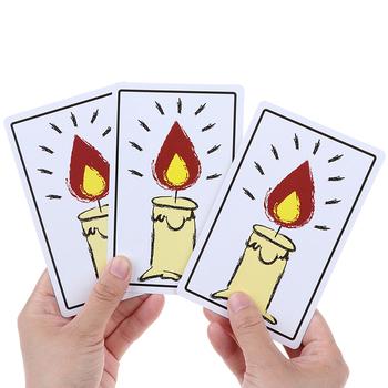 1 zestaw prześwietlania świec magiczne karty magiczne sztuczki magiczne rekwizyty niesamowite nowe magiczna zabawka śmieszne zabawki dla dzieci tanie i dobre opinie Papier CN (pochodzenie)