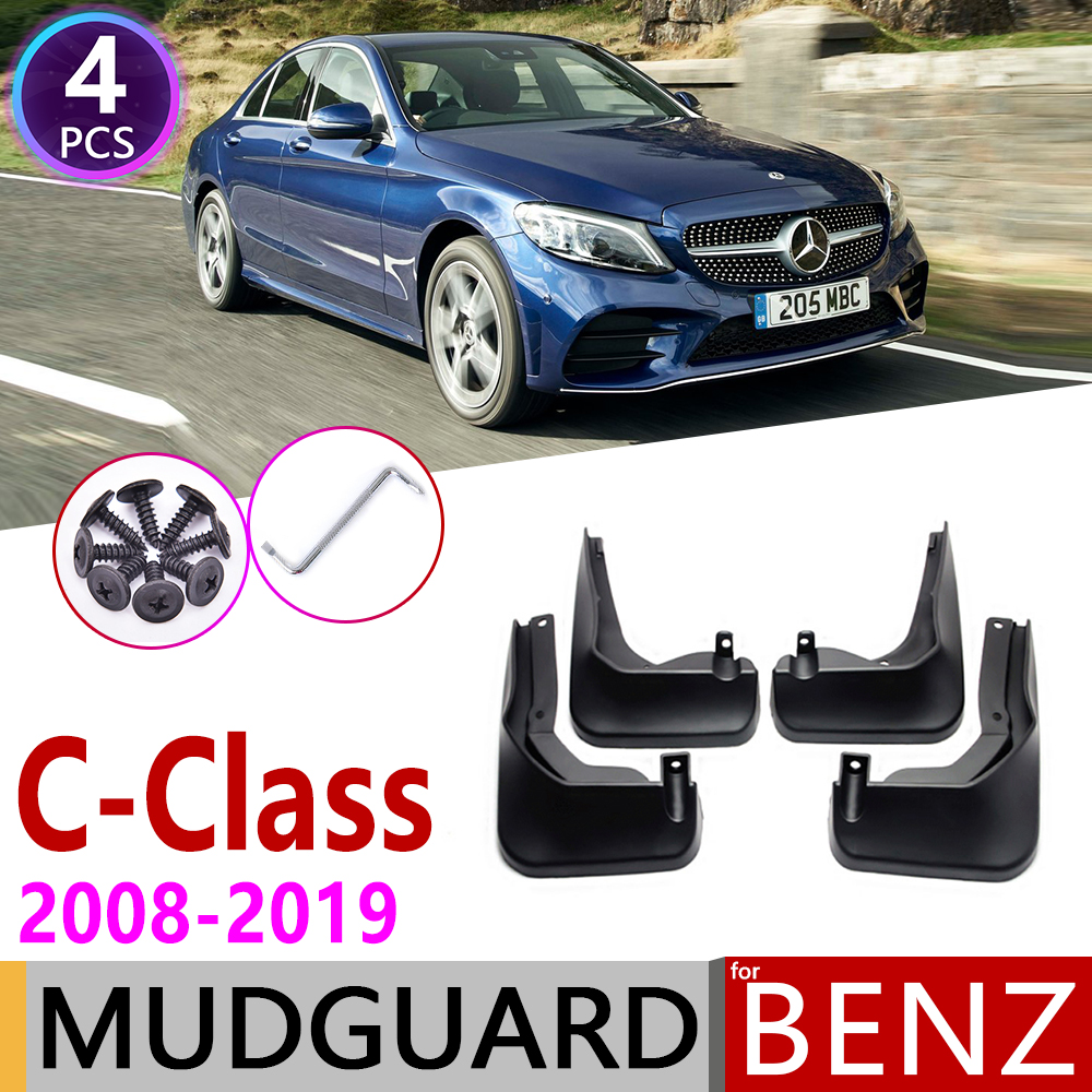 4 Mudflaps Splash Guard Fender Car Mudguard for Mercedes-Benz C43 AMG Sedan 2017