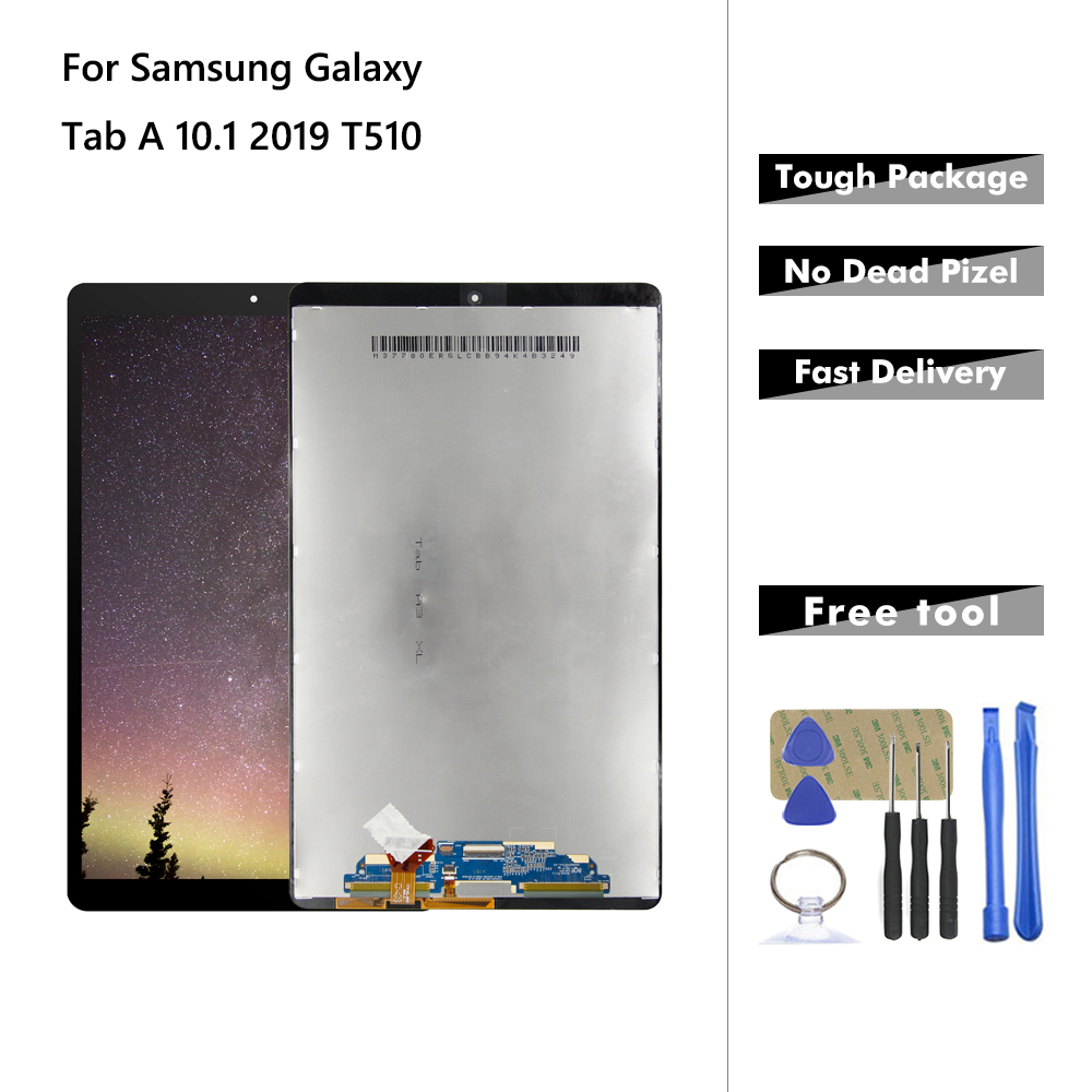LCD For Samsung Galaxy Tab A 10.1 2019 T510 T515 T517 SM-T510 LCD Display Touch Screen Digitizer Assembly Glass Panel For T510