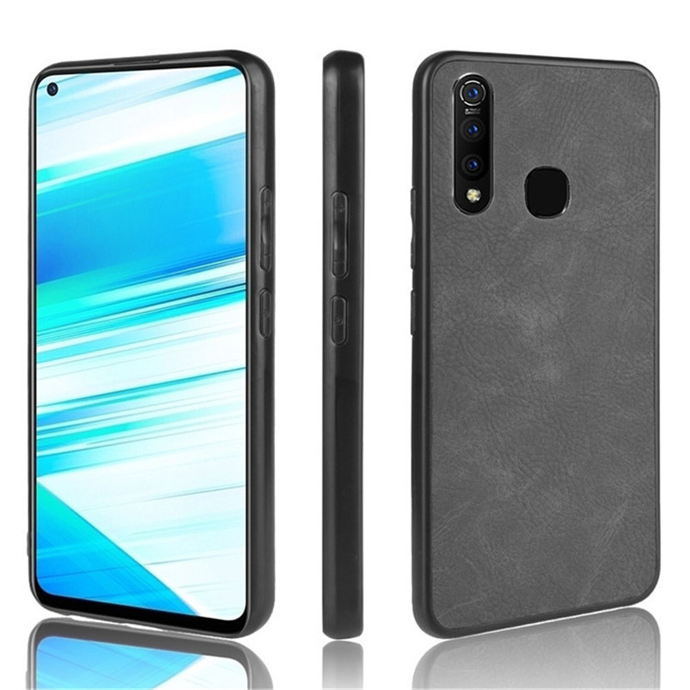 For Vivo Z1 Pro Case 6.53 inch Luxury PU Leather Hard Back Cover Shockproof Case For BBK vivo Z1 Pro Z1Pro Protective Phone Case