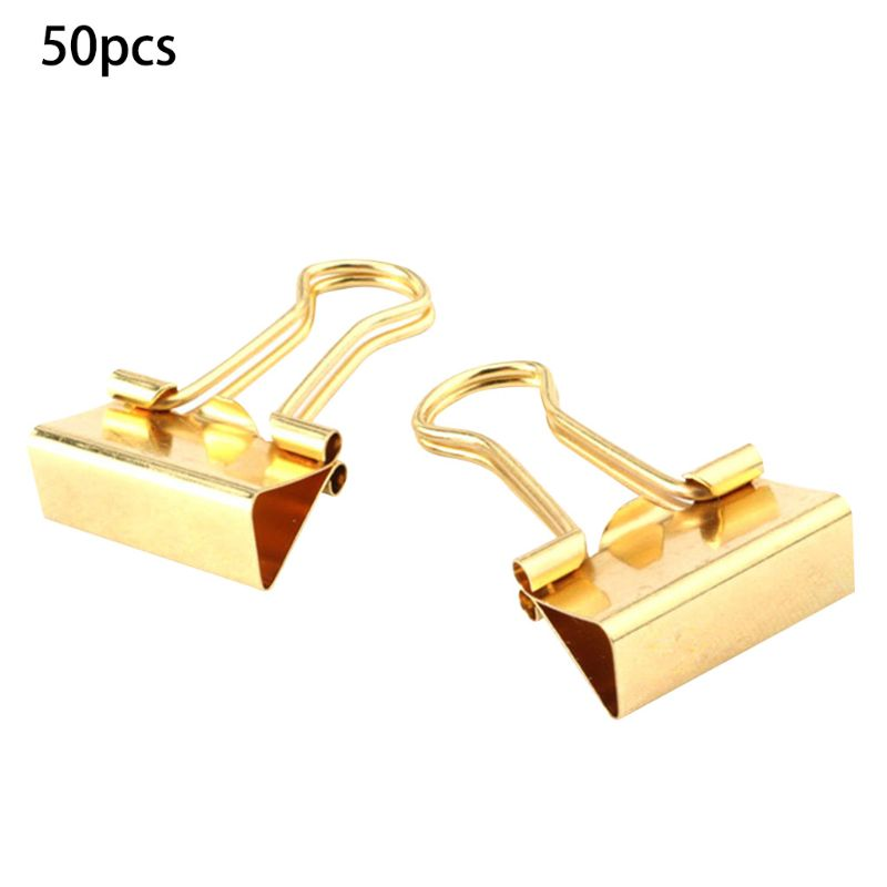 Gold Binder Clips - Small - 3/4 Inch (19 Mm) 50/Pack