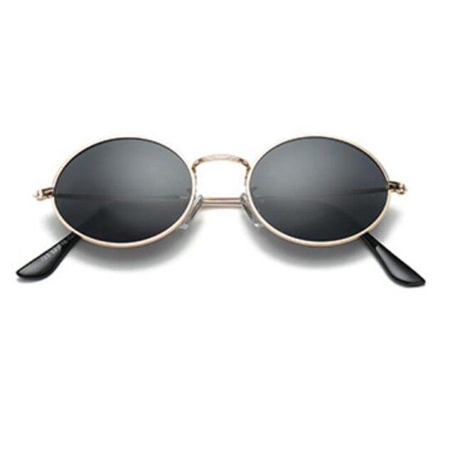 2020 Vintage Unique métal petit cadre ovale lunettes de soleil femmes hommes marque de mode concepteur or noir hommes lunettes UV400 Oculos