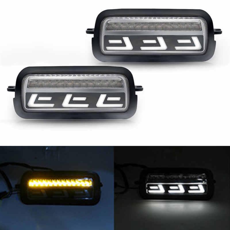 ل لادا نيفا 4X4 الحضرية 1995-2019 الجانب LED DRL أضواء الأبيض تشغيل العنبر بدوره إشارة وظيفة الملحقات مصباح ليد خلفي التتابع