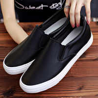2019 Spring and autumn White Casual Male Shoes Fashion Sneakers Loafers Men's Shoes Street Cool Footwear Flats Man Shoes U9-08