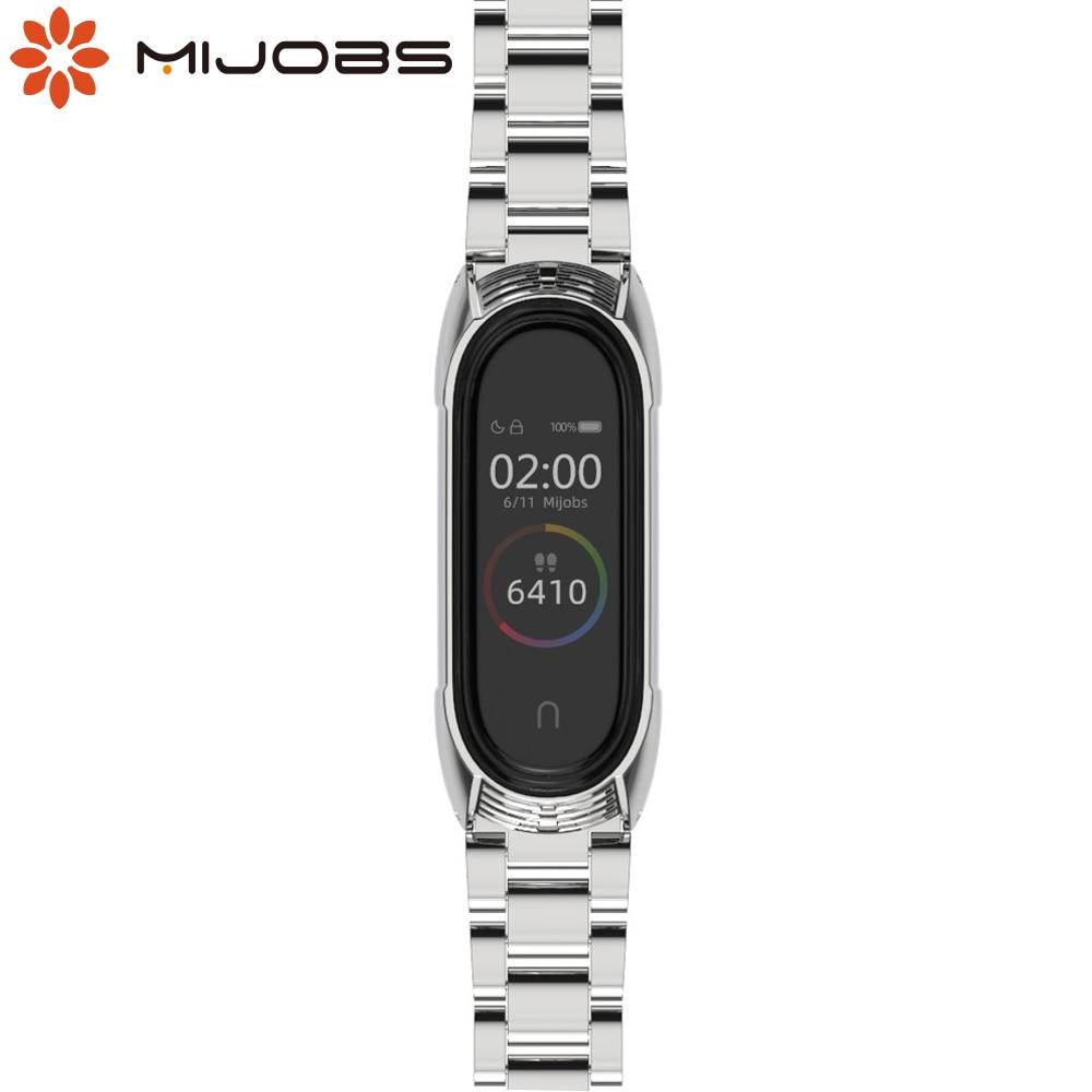 Mi Band 5 Global Version NFC Strap Metal Stainless Bracelet For Xiaomi Wrist Mi Band 4 Strap Smart  MiBand 3 Correa Wristband