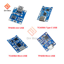 5pcs BMS 5V 1A 18650 Lithium Battery Charger Board Mini/Micro USB TYPE C Power Charging With Protection Functions