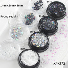 Circle Sequin Glitter Mix UV Colour Iridescent Sprinkles Glitter Bling Bling Aurora Borealis Confetti Flakes Resin Art Supplies