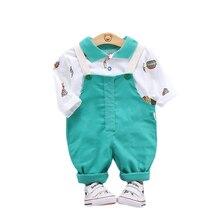 Весенне осенняя Модная хлопковая одежда для маленьких мальчиков