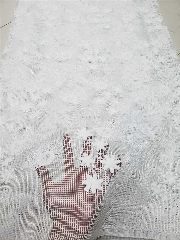 Skin Friendly 3D Classic Grade Guipure Lace VERY Soft Embroidery Elegant African Cord Lace Fabric For Wedding Dress NN971-v
