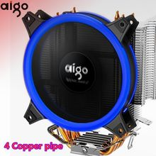 Aigo E3 Pc Cpu Koelventilator Koeler 4 Heatpipes Cpu Koeler Fan Radiator Aluminium Heatsink Cpu Koeler LGA775/1155/1156/1366/AM2/AM4(China)