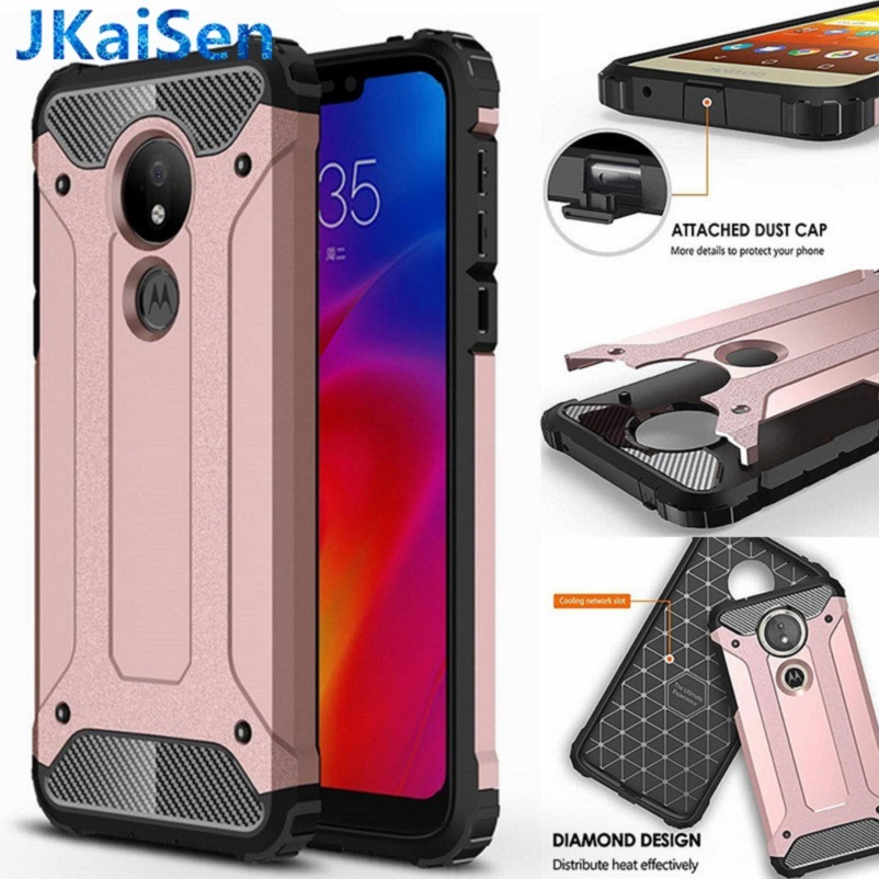 Hybrid Armor <font><b>Case</b></font> For <font><b>Motorola</b></font> E5 Play P40 P30 Note P50 G7 Power G8 G6 G5S Plus Rugged TPU+PC Cover Moto One <font><b>Vision</b></font> Zoom Action image