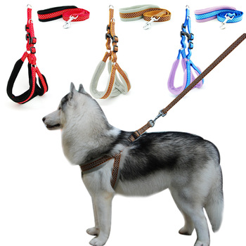 Dog Harness Vest Leash Polka Dot Breathable Mesh Pet Produts Adjustbale Outdoor Walking Leash Dog Collar for Medium Large Dogs 1