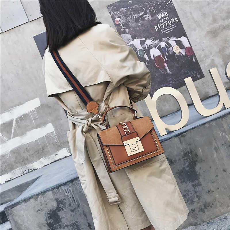 럭셔리 핸드백 여성 가방 디자이너 리벳 크로스 바디 가방 2020 패션 작은 메신저 숄더 가방 숙녀 핸드 가방 레드