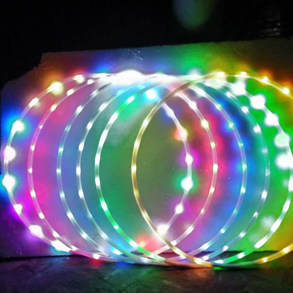 Adults Kids LED Glow Sport Hoop Multiple Light Up Sports Hoops Multi-color Hoop Loose Weight Bodybuilding Fitness Hoops Toy New