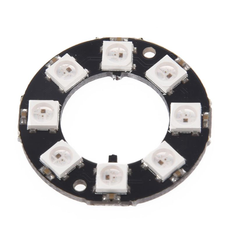 Top-8-Bit WS2812 5050 RGB LED Ring Round Decoration Bulb Development Board