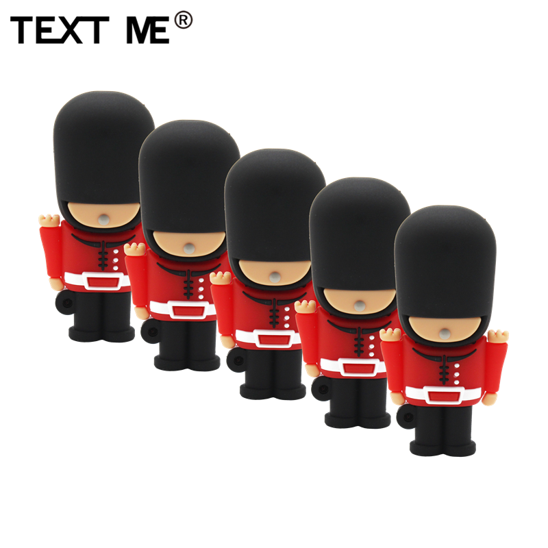 TEXT ME Cartoon Creative Royal Guard Model Usb 2.0 4GB 8GB 16GB 32GB 64GB Pen Drive USB Flash Drive  Gifty Stick Pendrive