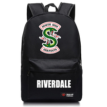 Women Backpack Riverdale Solid Schoolbags River Valley Town Backpacks Male Schoolbag Laptop Men