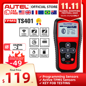Image 1 - AUTEL MaxiTPMS TS401 TPMS Tool Tyre Pressure Sensor Activator Programmer Receive both 315MHz and 433MHz signals