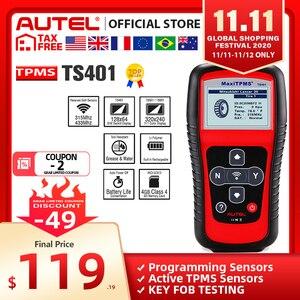 Image 1 - Autel MaxiTPMS TS401 Tpms ツール OBD2 スキャナアクティブスキャン TPMS センサーコピー OE id Mx センサープログラミング Autel TPMS mx センサー
